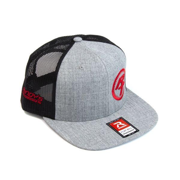 RT Logo Snap Back Flat Brim Hat Black/Gray